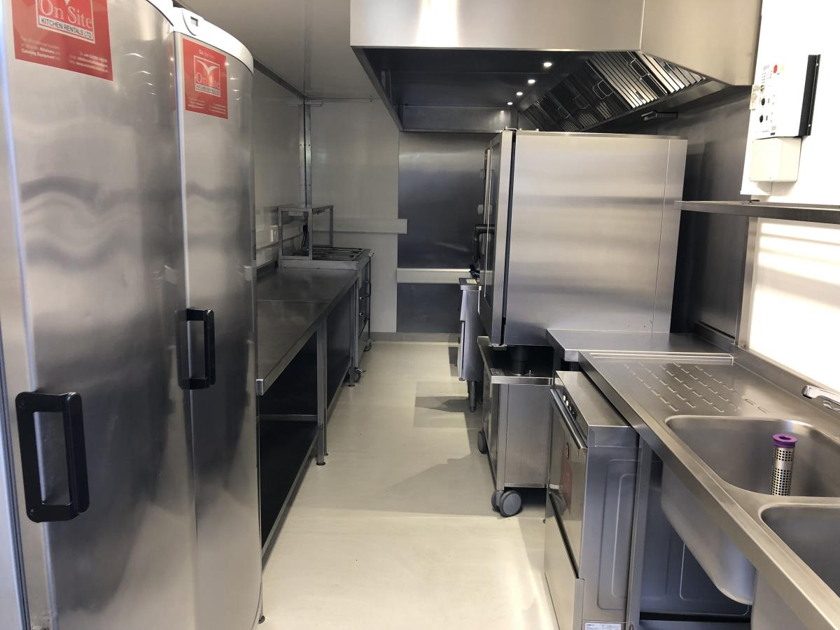 Easy in, out trailer kitchen created for use as a takeaway or replacement and emergency kitchen for smaller catering requirements.